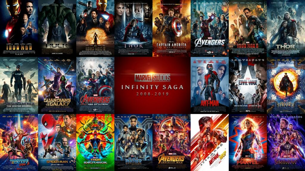 Montage of movie posters