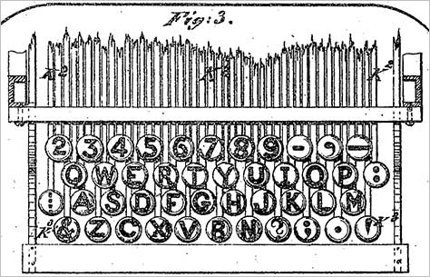 QWERTY Patent Drawing